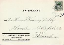 1933 Firmabk Van Barneveld Naar Haarlem - 1891-1948 (Wilhelmine)