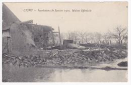 Gigny - Inondations De Janvier 1910 - Maison Effondrée (bois De Lit, Et Four à Pain Visible) Pas Circulé - France