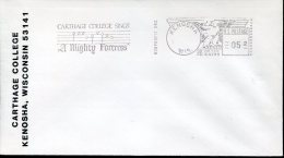 3195 U.s.a. Red Meter Freistempel, 1983  Kenosha, Carthage College Sings, Martin Luther Quicentenary - Christianity