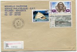 NOUVELLE-CALEDONIE LETTRE RECOMMANDEE AVEC OBLITERATION BOULOUPARIS-AN. MOB. 8-2-1999 Nelle CALEDONIE - Neukaledonien