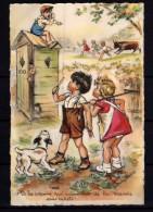 RARE CPA BOURET Germaine Voyagé En 1943 Période Du Rationnement V'la Les Copains Qui Ramènent De La Viande Sans Ticket - Bouret, Germaine
