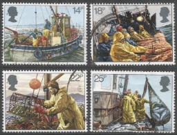 Great Britain. 1981 Fishing Industries. Used Complete Set. SG 1166-1169 - Used Stamps