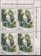 2010  Türkei Türkiye  Turquie Mi. 3824-5 **MNH Bloc Of 4 Pc EOR  Europa Kinderbücher - 2010