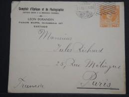 CHILI - Entier Postal ( Enveloppe Commerciale ) Pour La France En 1916 - A Voir - Lot P14542 - Chili