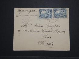 HAITI - Enveloppe En Recommandée Pour Paris Via New York En 1933 - A Voir - Lot P14552 - Haïti
