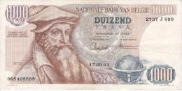 BILLETE DE BELGICA DE 1000 FRANCOS DEL 17-09-1963 DE MERCATOR  (BANKNOTE) - [ 2] 1831-... : Reino De Bélgica