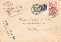 AL68-005- Recommandé De Guebwiller + TàD Poste Aux Armées 601 - Postmark Collection (Covers)