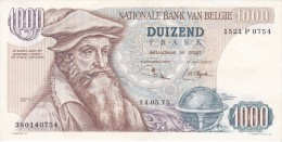 BILLETE DE BELGICA DE 1000 FRANCOS DEL 14-05-1975 DE MERCATOR  (BANKNOTE) - [ 2] 1831-... : Belgian Kingdom