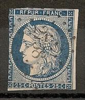 PC 2738 ROUEN Seine Inférieure Sur 25c Cérès  II° République. - 1849-1850 Cérès