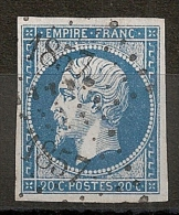 RARE AINSI, 2 FRAPPES, PC 1857 MANTES Seine Et Oise. - Storia Postale (Francobolli Sciolti)
