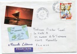 NOUVELLE-CALEDONIE LETTRE DEPART NOUMEA-RIVIERE-SALEE 7-5-2001 POUR LA FRANCE - Neukaledonien