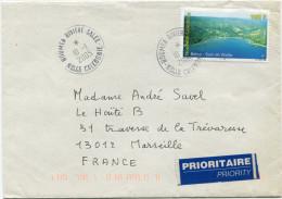 NOUVELLE-CALEDONIE LETTRE DEPART NOUMEA-RIVIERE-SALEE 10-5-2005 POUR LA FRANCE - Briefe U. Dokumente