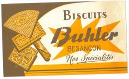 """Buvard Ancien """"Biscuits Buhler"""" - Buvards, Protège-cahiers Illustrés"""