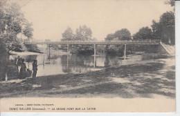 SALLES ( Gironde ) - Le Grand Pont Sur La Leyre ( ETAT )  PRIX FIXE - France