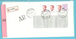 1850+2136 Op Brief Aangetekend Met AR Met Stempel BEAURAING - 1981-1990 Velghe