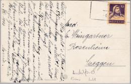 Heimat LU KRIENS 1933-06-06 Aushilfs Stempel Auf AK - Suisse