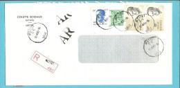 1960+2069+2127 Op Brief Aangetekend Met AR Met Stempel METTET - 1981-1990 Velghe