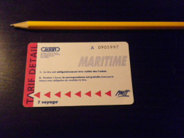 Ticket Maritime TOULON SITCAT - RMTT - Europe