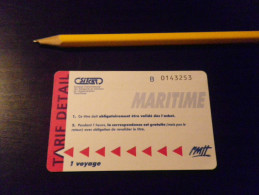 Ticket Maritime TOULON SITCAT - RMTT - Billets D'embarquement De Bateau