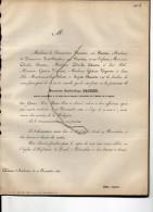 Baudier André Jean Conseiller Cour Comptes +26/11/1862 Chateau D'Ambroise Hofstade Zemst Poot-Baudier Deudon Vigneron - Faire-part