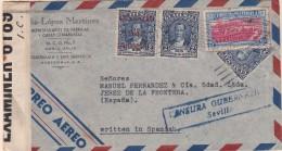 Sobre De Guatemala A Jerez, Franqueo 233 Y Bisectado, 309 Y A120 Mas 310 Perforado Diagonal. - Guatemala