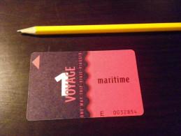 Ticket TOULON 1 Voyage - RMTT - BUS BATEAU SITCAT - Billets D'embarquement De Bateau
