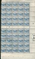 France 1920 / 24 - Feuille De 50 Valeurs - Au Profit Des Orphelins De La Guerre - Y&T N° 165 ** Neuf (gomme D´origine)TB - Feuilles Complètes