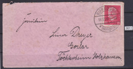 GERMANY 1928, LETTER SENT FROM BURGDORF 16.10.1928 TO GOSLAR, SAXONY,  See Scans - Covers & Documents