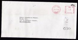 UK: Cover Woking To Netherlands, 1985, Meter Cancel, Postage Due, Taxed (damaged: Discolouring, Pinhole) - 1952-.... (Elizabeth II)