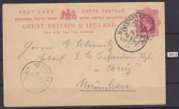 GREAT BRITAIN 1905, CARTE POSTALE SENT TO MUNCHEN ON 10.5.1905, MUNCHEN CANCEL 14.5.1905,  See Scans - Interi Postali