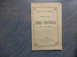 SAUMUR Programme Et Organisation école Industrielle, 1909 ; Ref C 20 - Books, Magazines, Comics