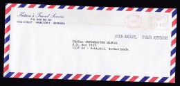 Bermuda: Airmail Cover Hamilton To Netherlands, 1985, Meter Cancel, Sent By Travel Service (minor Discolouring) - Bermuda