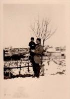 Photo Originale Homme - Père Et Fils Dans La Neige - - Anonieme Personen
