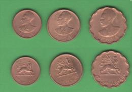 Ethiopia Etiopia 3 Monete Rame - Etiopia