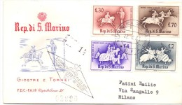 S. MARINO RIDES TOURNAMENTS FIRST DAY OF ISSUE   (franc0177) - FDC