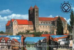 (NZ06-007  ) UNESCO Germany  World Heritage, Collegiate Church, Castle And Quedlinburg,   Postal Stationery-Postsache F - Culture