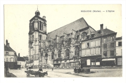 Cp, 51, Sezanne, L'Eglise, écrite - Sezanne