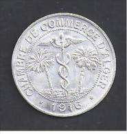 10 C  Chambre De Commerce D' ALGER - 1916 - Monetary / Of Necessity
