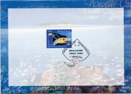 NOUVELLE-CALEDONIE CARTE DE VOEUX AVEC OBLITERATION SERVICE PHILATELIQUE NOUVELLE-CALEDONIE 1er JANVIER 2005 - Briefe U. Dokumente