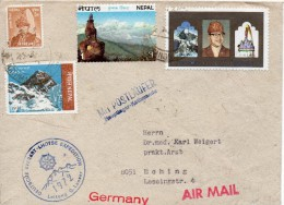 NEPAL LETTRE EXPEDITION EVEREST POUR L'ALLEMAGNE 1972 - Nepal