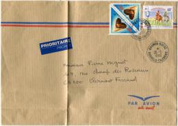 NOUVELLE-CALEDONIE LETTRE PAR AVION DEPART NOUMEA-DUCOS 26-5-1999 POUR LA FRANCE - Briefe U. Dokumente