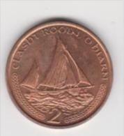 ISLE OF MAN   2 CENTS ANNO 2002 UNC - Monete Regionali