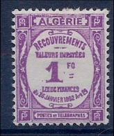 ALGERIE - TAXE 19  1F NEUF CHARNIERE MLH - Portomarken