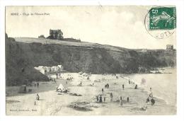 Cp, 22, Binic, Plage De L'Avant Port, Voyagée 1908 - Binic