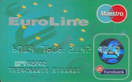 GREECE - Euroline, Eurobank Credit & Debit Card(1144), 09/00, Used - Geldkarten (Ablauf Min. 10 Jahre)