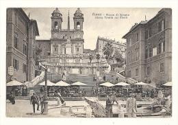 Cp, Italie, Roma (Rome), Piazza Di Spagna, Chieza Trinita Dei Monti - Roma