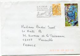 NOUVELLE-CALEDONIE LETTRE DEPART LA FOA 13-1-2003 POUR LA FRANCE - Briefe U. Dokumente