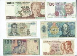 Lot De 10 Billets étrangers   (4 Scans ) - Billets