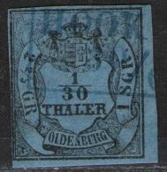Hooksiel Auf 1/10 Thaler Blau - Oldenburg Nr. 2 III - Oldenburg