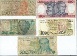 Lot De 8 Billets Du Brésil   (4 Scans ) - Brésil